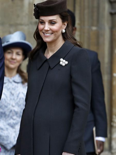 Kate Middleton, na missa de Páscoa - Getty Images