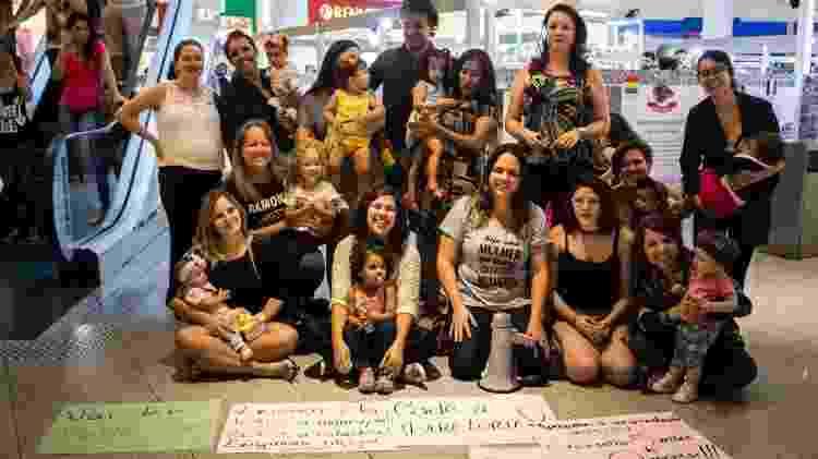 Mulheres fazem mamaço em Shopping de Belo Horizonte - Arquivo pessoal/ Júlia Filogônio - Arquivo pessoal/ Júlia Filogônio