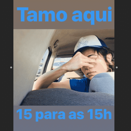 Nanda Costa no trânsito durante jogo do Brasil - Reprodução/Instagram