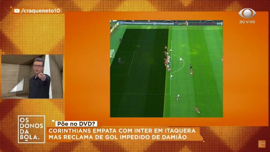 """""""Os Donos da Bola"""", da Band, usa imagem da Globo sem autorização - Reprodução/Band"""
