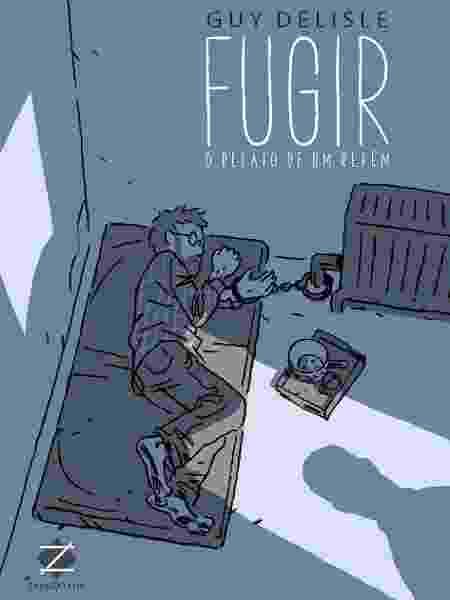 """Capa da HQ """"Fugir - O Relato de um Refém"""", de Guy Delisle - Reprodução"""
