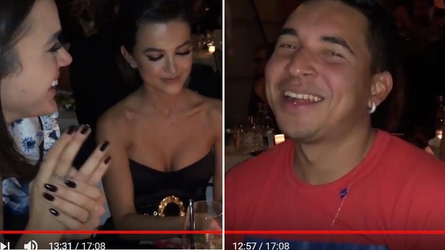Manu Gavassi em jantar com Bruna Marquezine e o parça de Neymar, Gil Cebola - Reprodução/YouTube