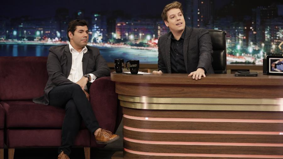 Felipe Bronze e Fábio Porchat no programa de segunda-feira - Antonio Chahestian/Record TV