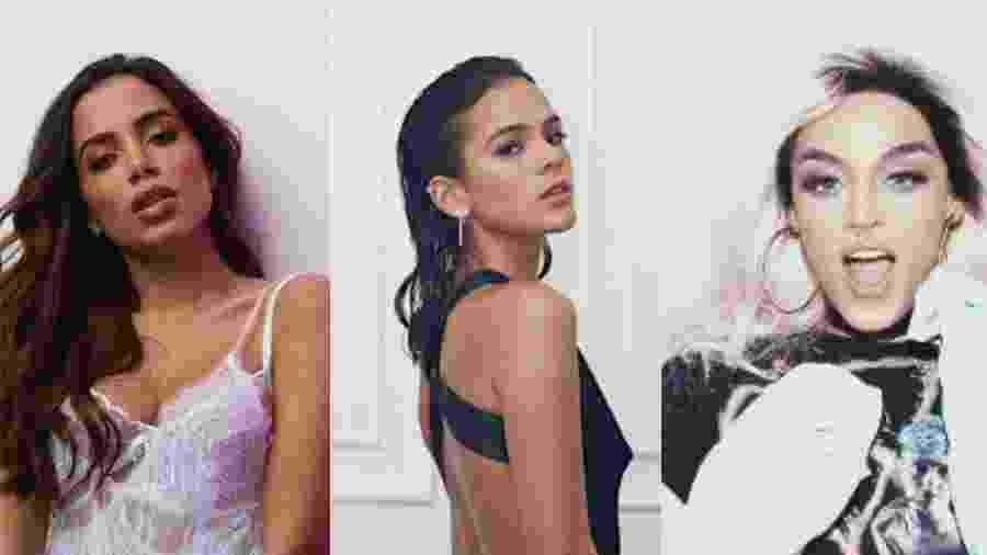 Anitta, Bruna Marquezine e Pabllo Vittar estão na lista de uma revista que elege todo ano a mulher mais sexy do Brasil  - Reprodução/Montagem UOL