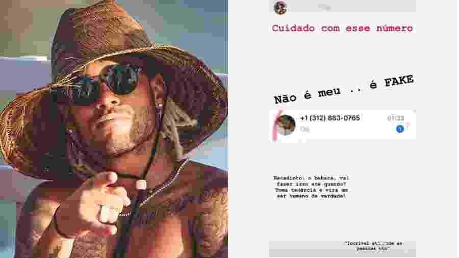 Neymar mostra número de celular falso e se revolta - Reprodução/Instagram