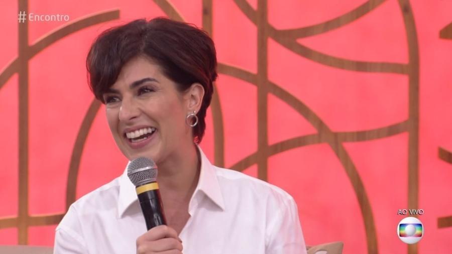 """Fernanda Paes Leme participa do """"Encontro"""" e fala sobre a série """"Sandy & Junior"""" - Reprodução/TV Globo"""