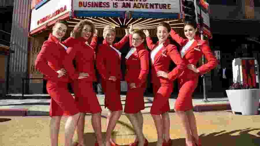 Comissárias da Virgin Atlantic agora vão poder trabalhar sem maquiagem - Reprodução/Facebook/Virgin Atlantic
