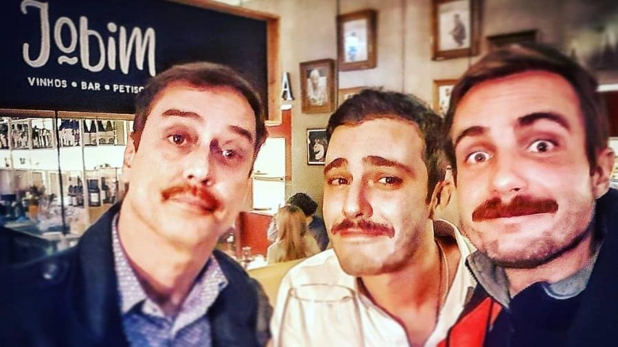 Os atores Marcello Antony, Thiago Rodrigues e Max Fercondini em Portugal  - Reprodução/Instagram