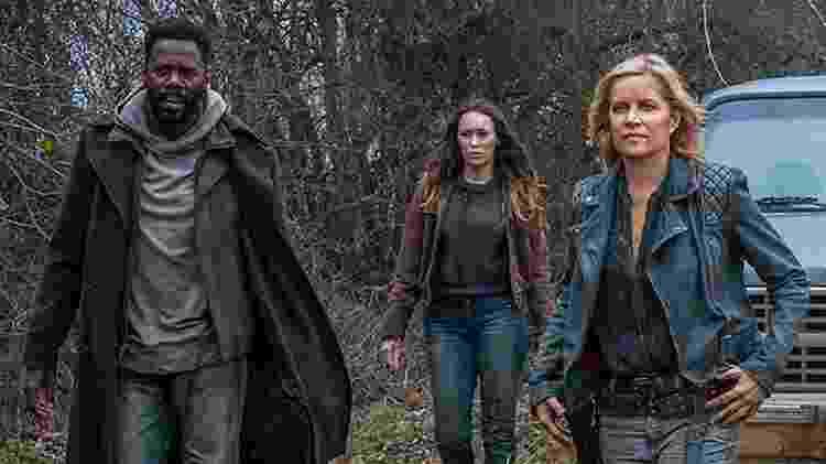 Os personagens de Victor Strand, Alicia e Madison em Fear of The Walking Dead - Divulgação
