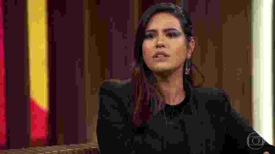 Antônia Morais participa do Conversa com Bial - Reprodução/TV Globo