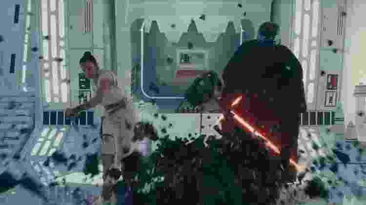 Rey e Kylo no trailer de Star Wars - A Ascensão Skywalker  - Reprodução/YouTube - Reprodução/YouTube