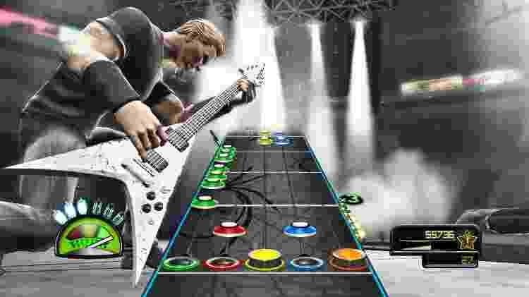 Quem se lembra de Guitar Hero Metallica? O game foi lançado em 2009, quando o gênero ainda estava em alta - Divulgação