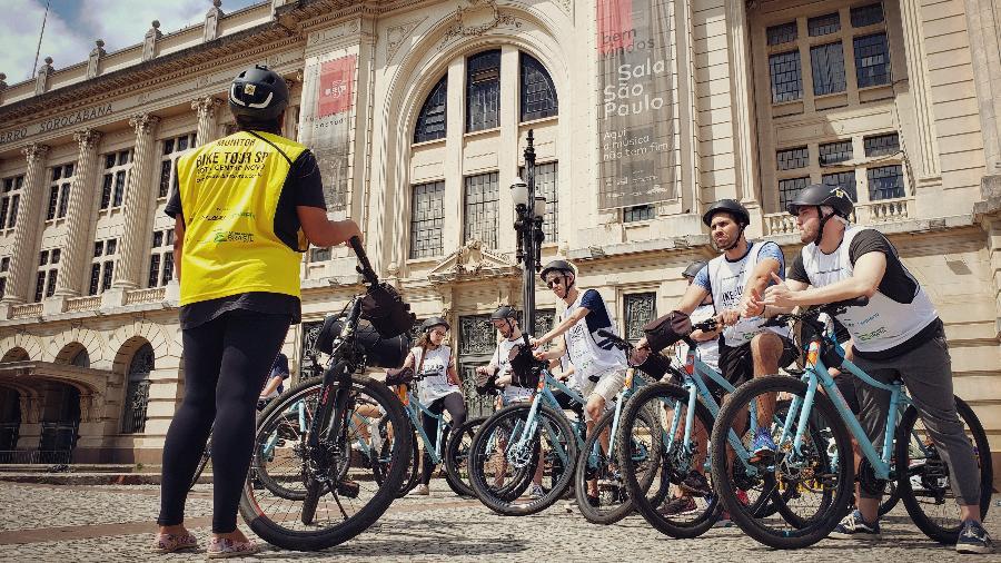 A Sala São Paulo é um dos atrativos visitados no roteiro de bicicleta no Centro Novo - Eduardo Vessoni/SP
