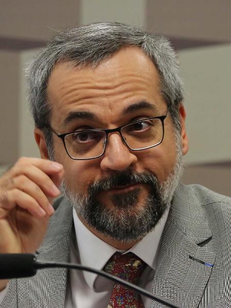 O Ministro da Educação, Abraham Weintraub, durante Comissão de Educação do Senado Federal em Brasília (DF) - Estadão Conteúdo