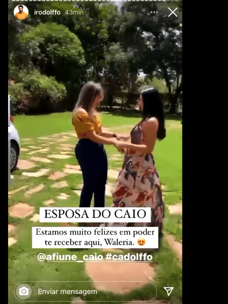 Esposa de Caio e irmã de Rodolffo se juntam para assistir ao BBB - Reprodução Instagram