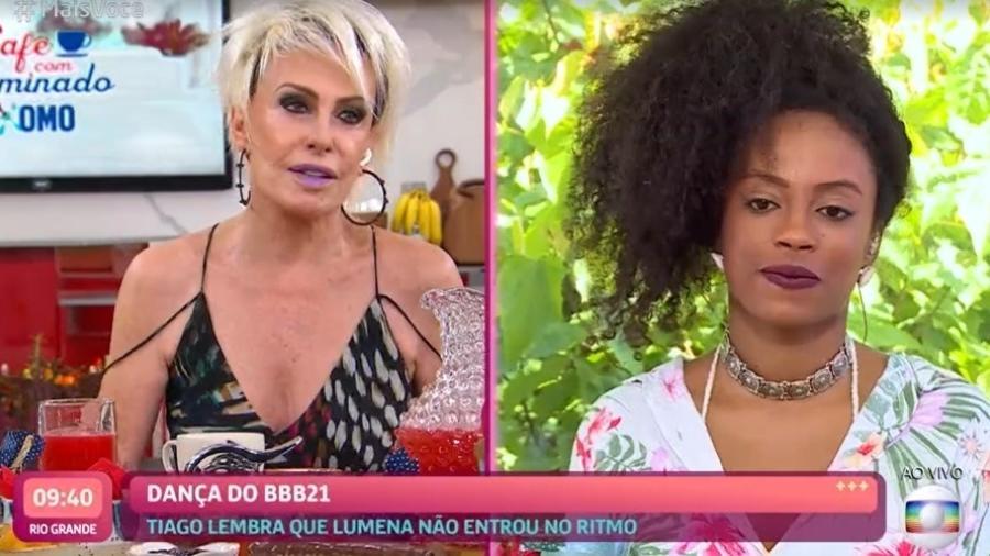 BBB 21: Ana Maria Braga conversou com eliminada Lumena - Reprodução/TV Globo
