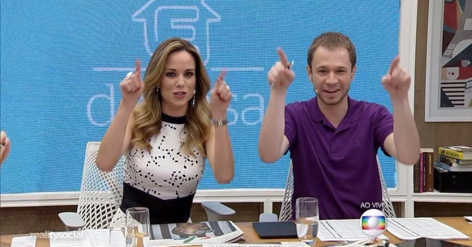 "Ana Furtado e Tiago Leifert na estreia do ""É de Casa"""