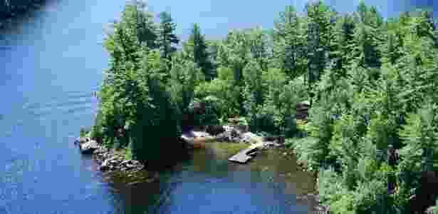 Vista aérea da Blueberry Island, no Canadá - Divulgação/Vladi Private Islands - Divulgação/Vladi Private Islands