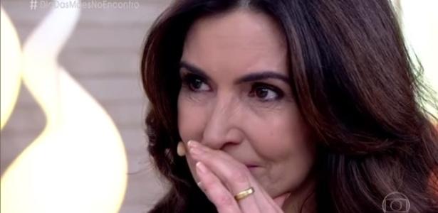"""Fátima Bernardes se emociona no """"Encontro"""" com mensagem dos trigêmeos - Reprodução/TV Globo"""