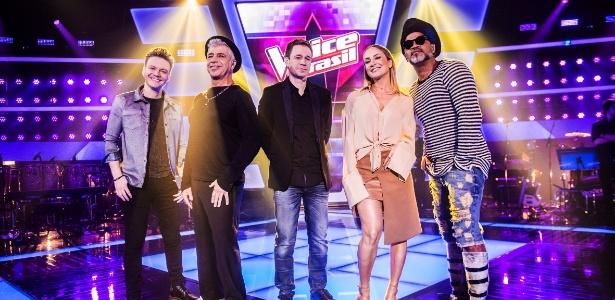 """Teló, Lulu Santos, Leifert, Claudia Leitte e Carlinhos Brown comandam o """"The Voice"""" - João Miguel Júnior /Globo"""