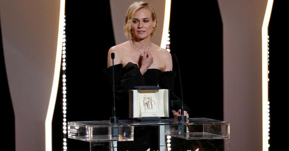 """Diane Kruger vence o prêmio de atriz em Cannes por """"In the Fade"""", do germano-turco Fatih Akin"""