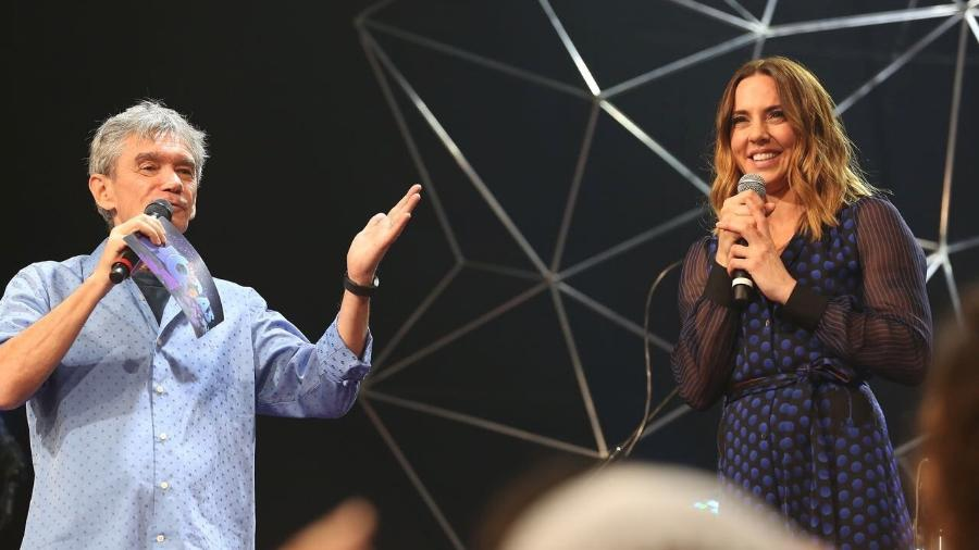"""Mel C participa do programa """"Altas Horas"""", de Serginho Groisman, em junho de 2017 - Divulgação"""