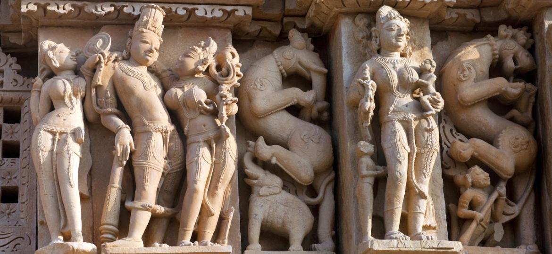 Os templos eróticos de Khajuraho, na região central da Índia - Getty Images