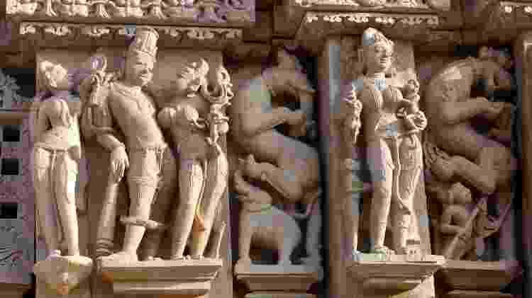 Os templos eróticos de Khajuraho, na região central da Índia - Getty Images - Getty Images