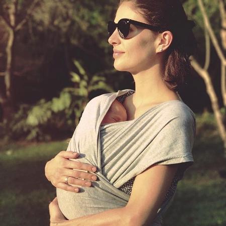 Monica Benini e o filho Otto - Reprodução/Instagram