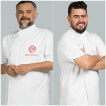 """Francisco (à esquerda) e Pablo (à direita) fazem a primeira final masculina do """"MasterChef"""" - Reprodução/TV Bandeirantes Montagem/UOL"""