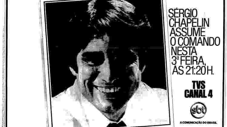 Sergio Chapelin foi contratado pelo SBT em 1983 - Reprodução - Reprodução