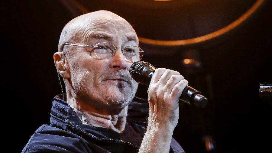 Phil Collins durante show em São Paulo - Lucas Lima/UOL