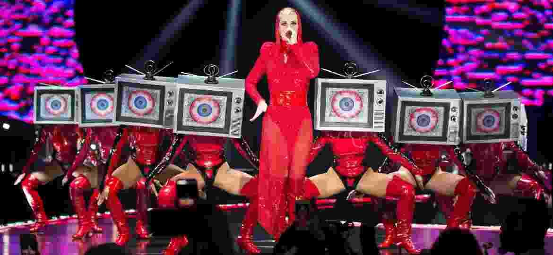 """Katy Perry em show da """"Witness Tour"""" em San Antonio, no Texas - Suzanne Cordeiro/AFP"""
