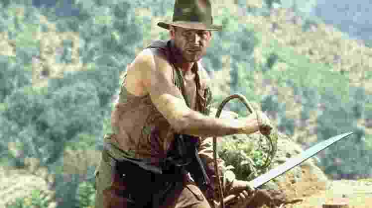 Harrison Ford em cena de 'Indiana Jones e o Templo da Perdição' (1984) - Divulgação - Divulgação