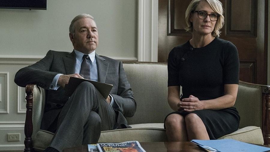 """Kevin Spacey e Robin Wright em cena na série """"House of Cards"""" (2013) - Divulgação"""