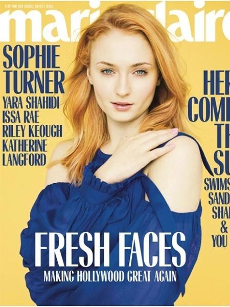 """Sophie Turner é capa da """"Marie Claire"""" americana - Divulgação"""