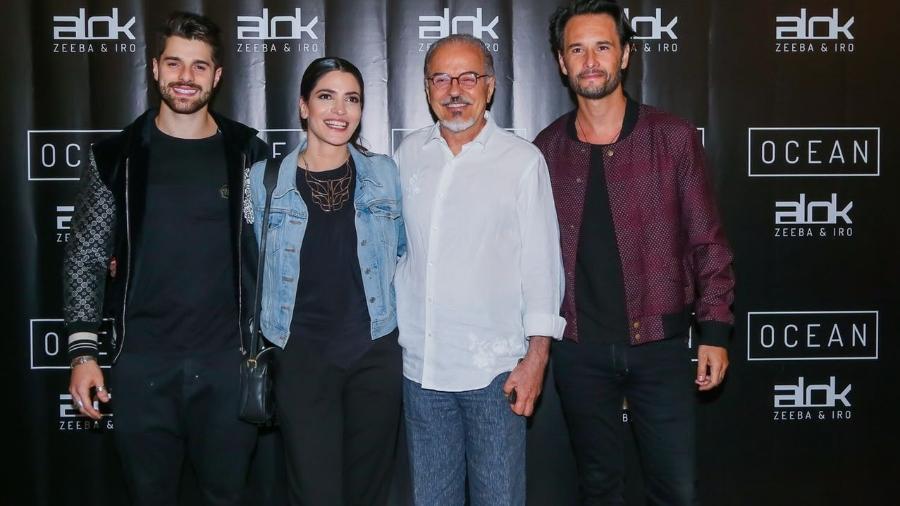 """Alok com os atores Rodrigo Santoro, Maria Manoella e Genésio de Barros durante exibição do videoclipe de """"Ocean"""" - Brazil News"""