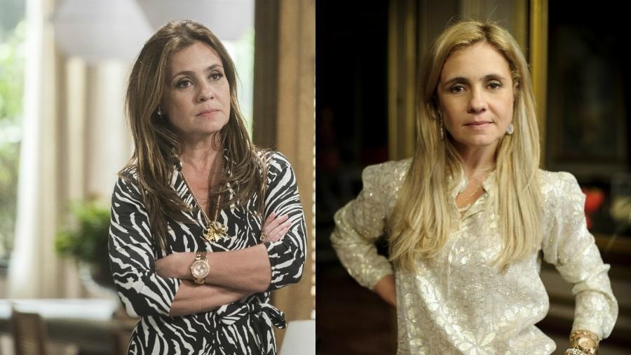 Laureta, nas palavras de Adriana Esteves, ensinou tudo sobre maldade para Carminha - Globo/Raquel Cunha/Globo/Alex Carvalho/Montagem UOL