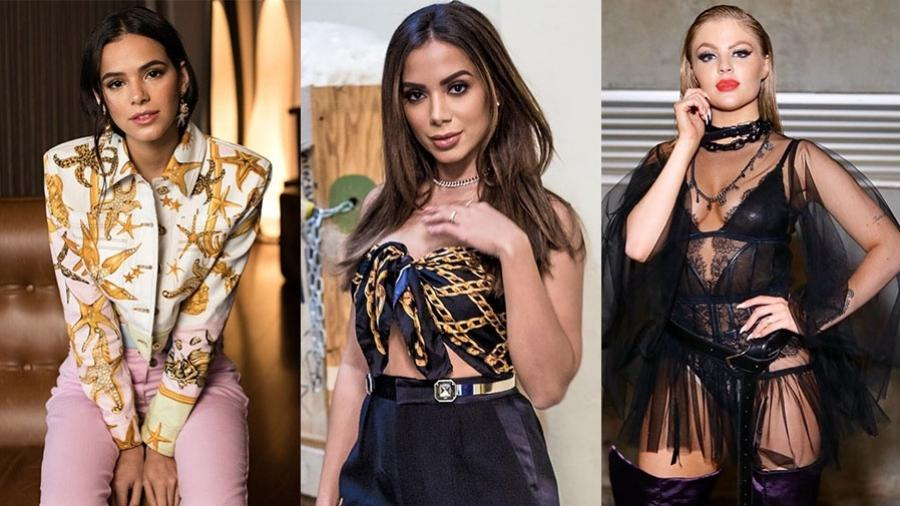 Bruna Marquezine, Anitta e Luísa Sonza - Reprodução/Instagram