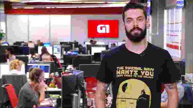 Cauê Fabiano é o repórter do G1 que entra ao vivo em programas da Globo - Reprodução/Globo - Reprodução/Globo