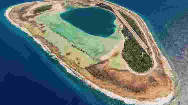 Foto panorâmica da ilha de Nukutepipi, na Polinésia Francesa - Divulgação/Airbnb - Divulgação/Airbnb