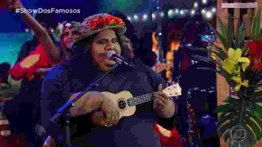 """Hugo Bonemer aparece irreconhecível no """"Show dos Famosos"""" - Reprodução/TV Globo"""