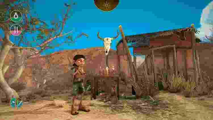 """Em """"Árida"""", a fome e sede da personagem são elementos do jogo  - Divulgação"""