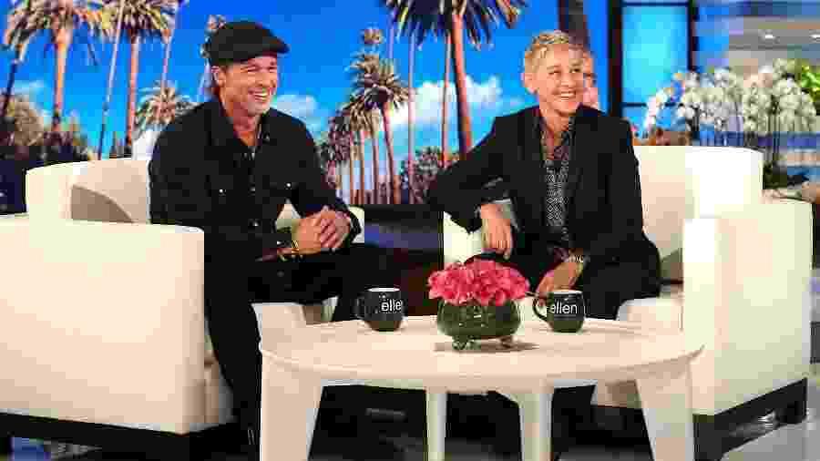Ellen DeGeneres entrevista Brad Pitt - Michael Rozman/Warner Bros.