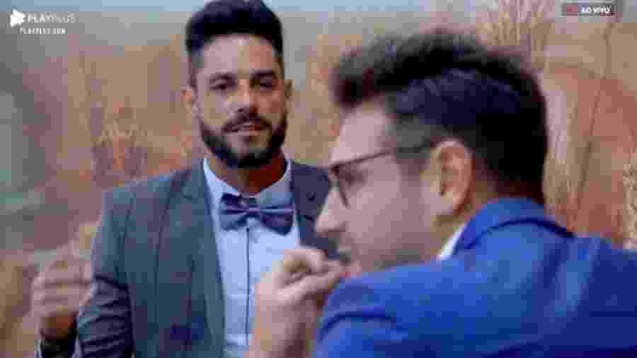 Diego e Guilherme discutem antes de festa - Reprodução/PlayPlus