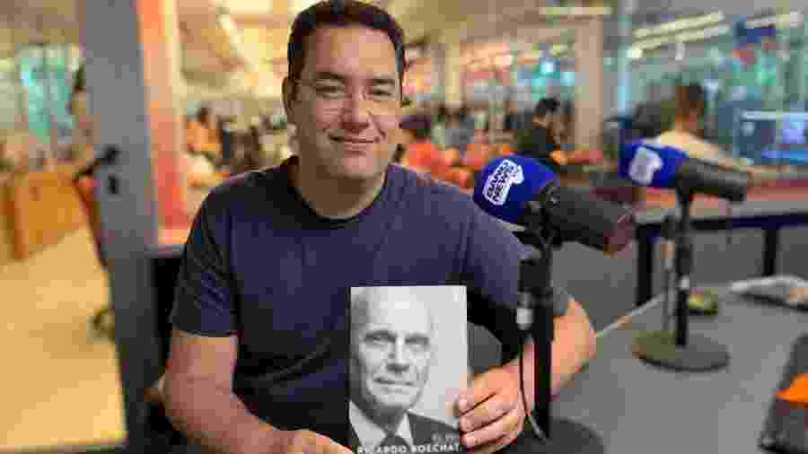 """Eduardo Barão e o livro """"Eu Sou Ricardo Boechat"""", que será lançado em dezembro - Arquivo Pessoal"""