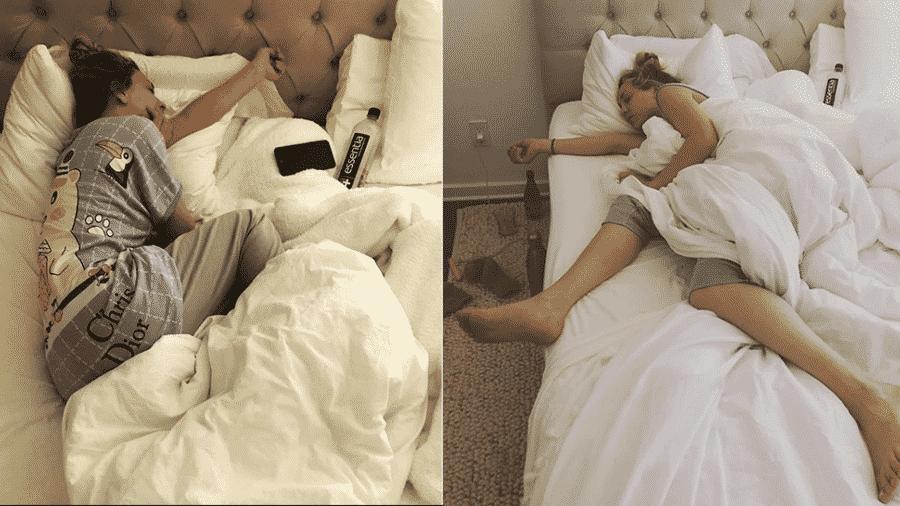 Kaley Cuoco foi fotografada dormindo pelo marido - Reprodução