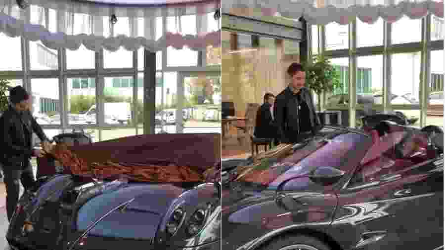 Jorge Lorenzo recebe Pagani Huayra Roadster - Reprodução
