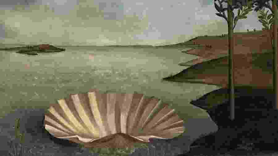 """""""Lugar para um nascimento"""", reinterpretação de """"O nascimento de Vênus"""", de Sandro Botticelli - Twitter/José Manuel Balleter"""