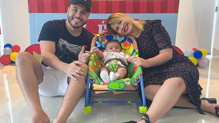 Marilia Mendonça, Murilo Huff e o filho deles, Léo - Reprodução/Instagram